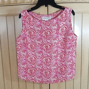 Silk Evan-Picone paisley crop top